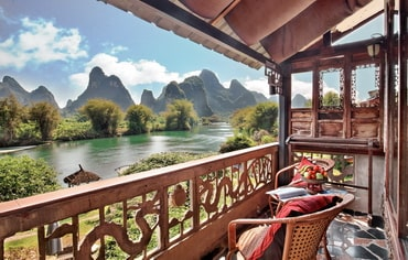 Yangshuo Mountain Retreat Yangshuo hotels Riverview Family Balcony